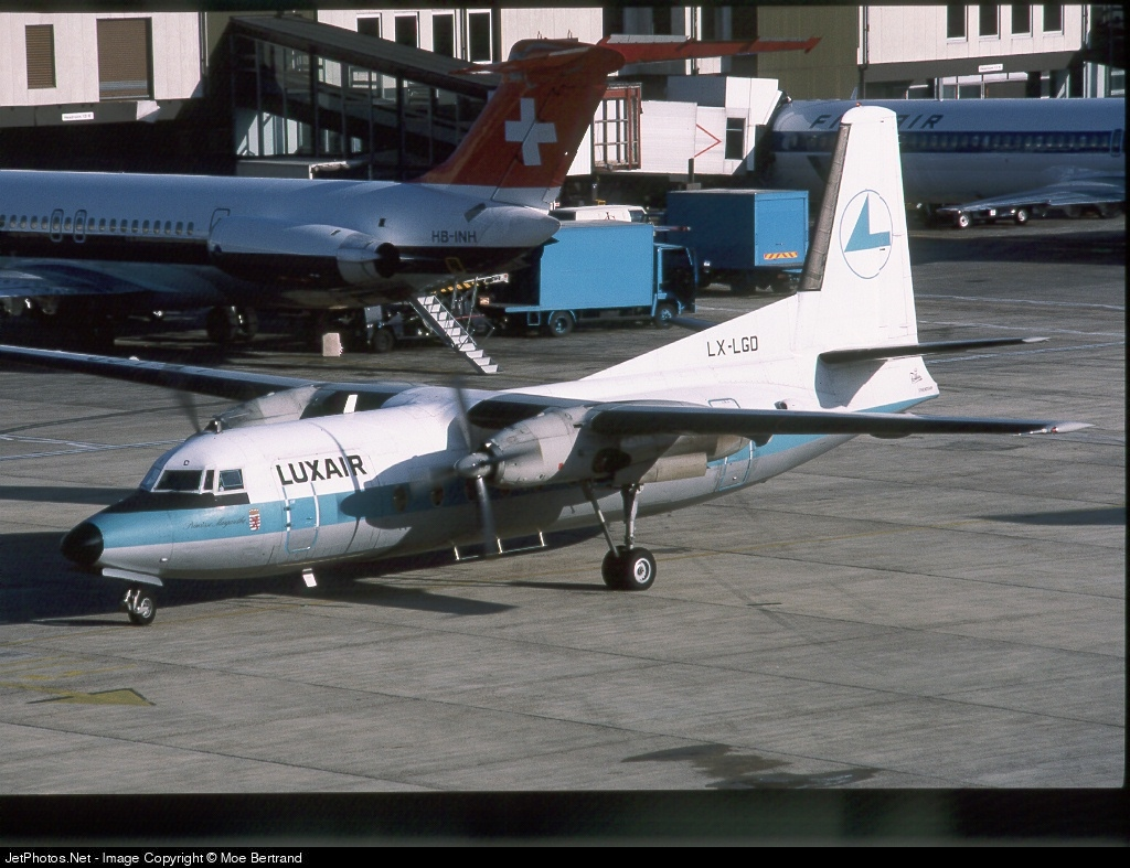 LX-LGD - Fokker F27-500 Friendship - Luxair - Luxembourg Airlines