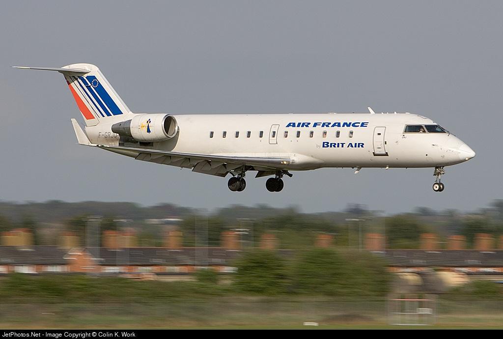 F-GRJQ - Bombardier CRJ-100ER - Air France (Brit Air)