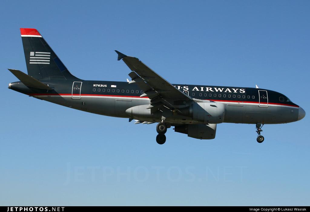 N763US - Airbus A319-112 - US Airways