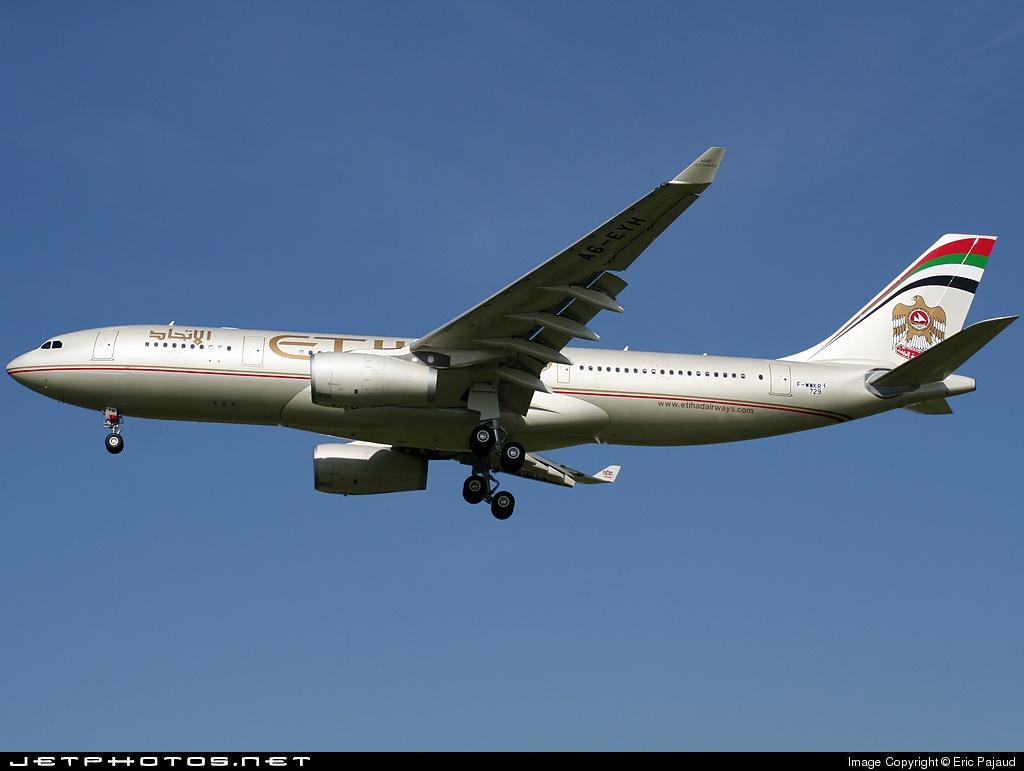 F-WWKR - Airbus A330-243 - Etihad Airways