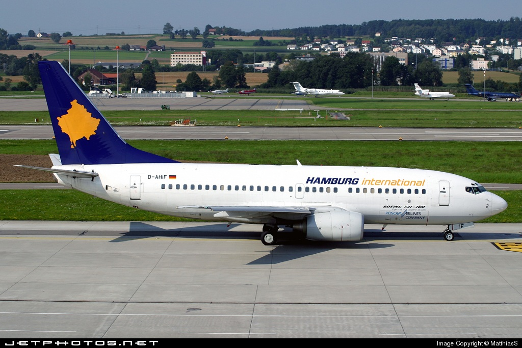 D-AHIF - Boeing 737-73S - Hamburg International (Kosova Airlines)
