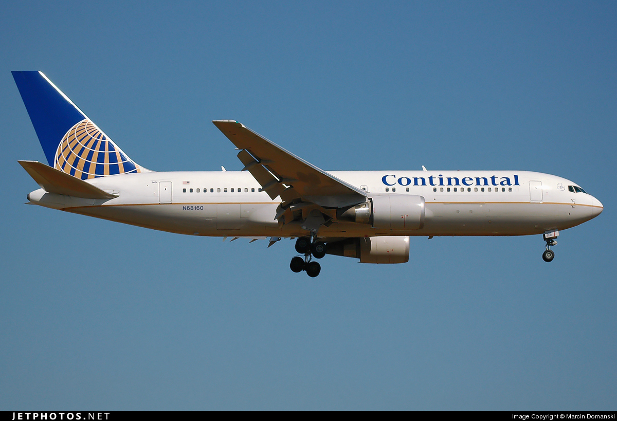 N68160 - Boeing 767-224(ER) - Continental Airlines