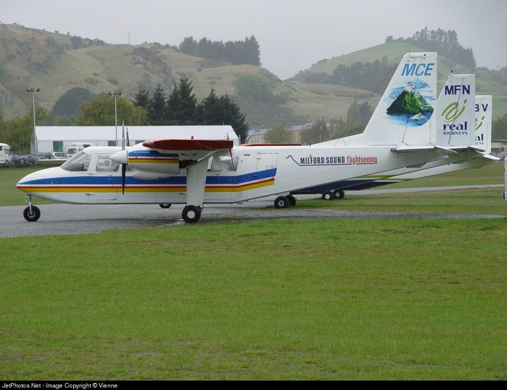 ZK-MCE - Britten-Norman BN-2A-26 Islander - Milford Sound Flightseeing
