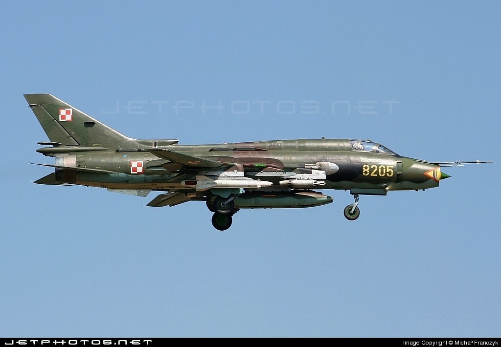 8205 - Sukhoi Su-22M4 Fitter K - Poland - Air Force