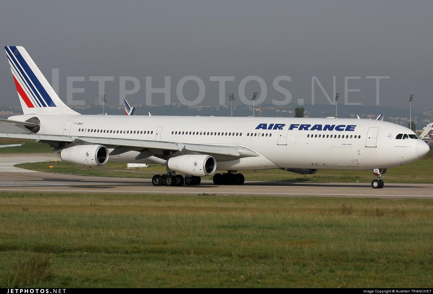 F-GNIH - Airbus A340-313X - Air France