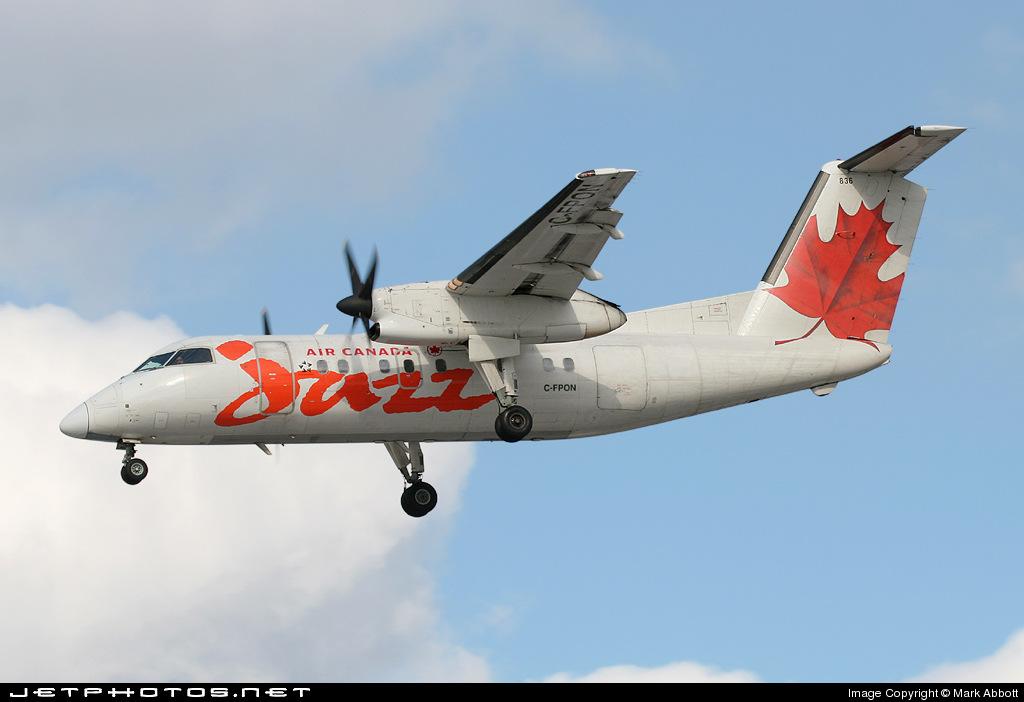 C-FPON - Bombardier Dash 8-102 - Air Canada Jazz