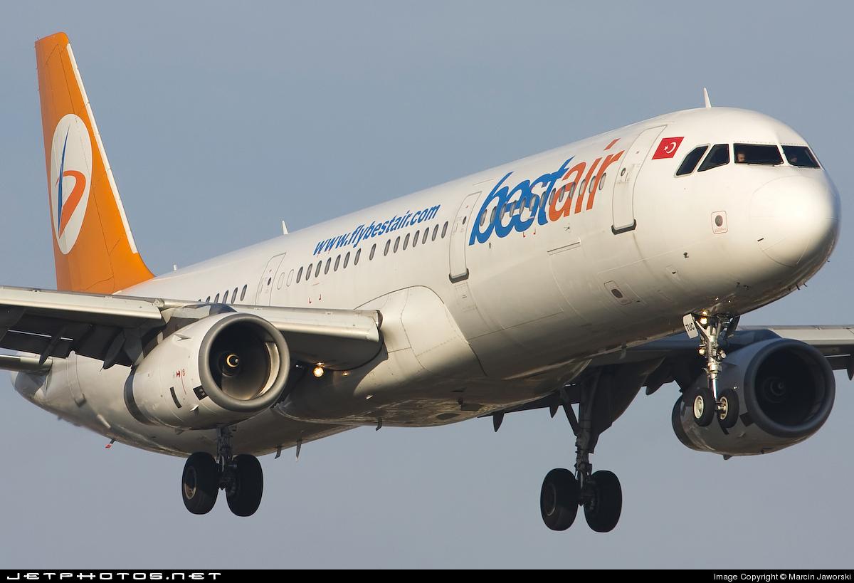 TC-TUC - Airbus A321-131 - Bestair