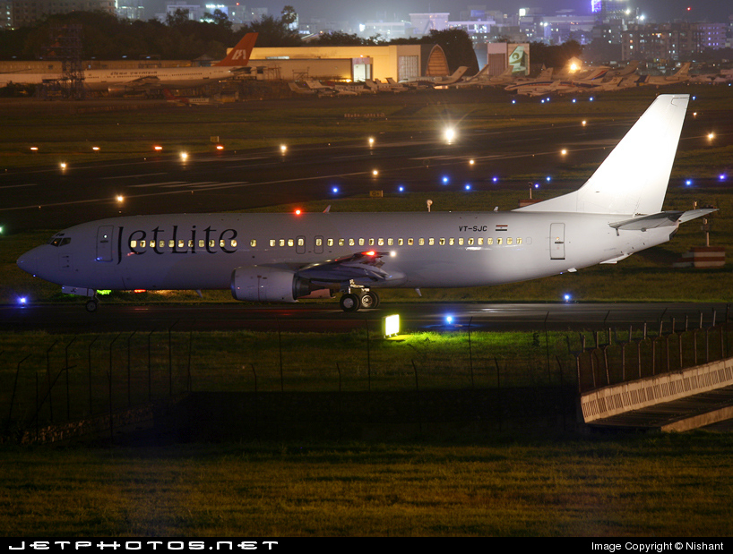 VT-SJC - Boeing 737-43Q - Jetlite