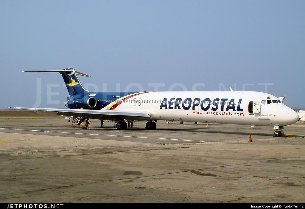 YV444T - McDonnell Douglas MD-82 - Aeropostal - Alas de Venezuela