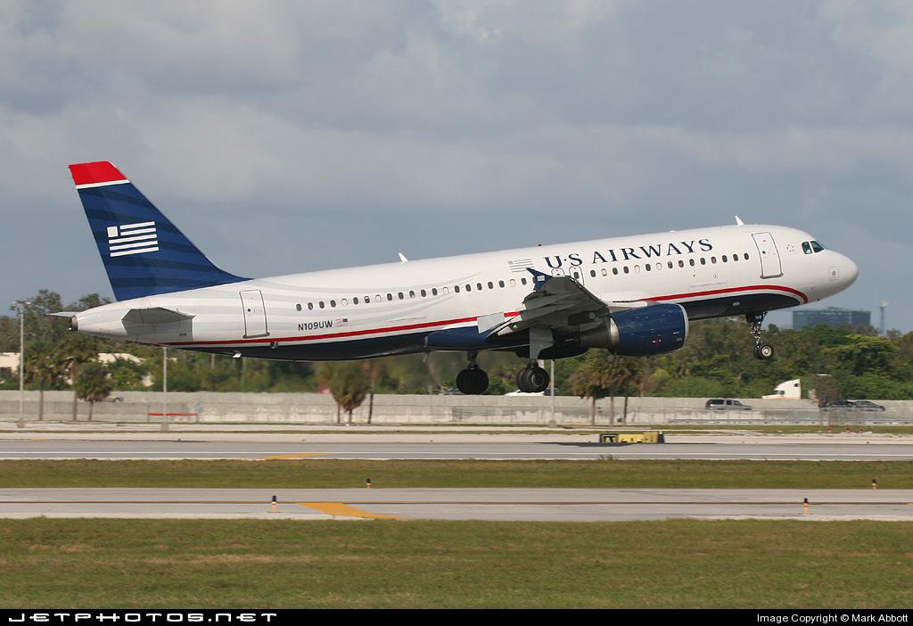 N109UW - Airbus A320-214 - US Airways