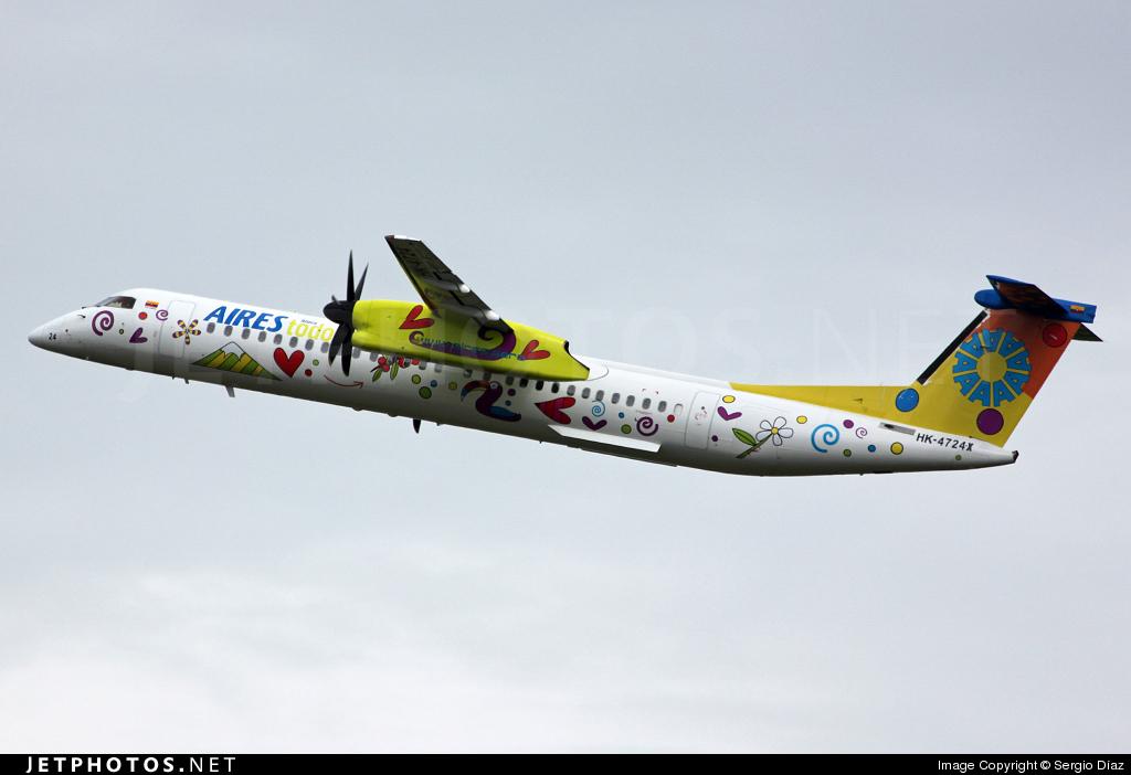 HK-4724X - Bombardier Dash 8-Q402 - Aires Colombia