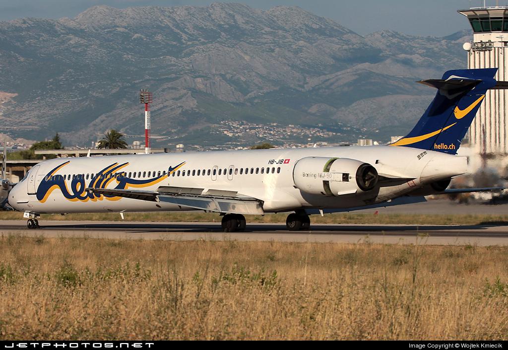 HB-JIB - McDonnell Douglas MD-90-30 - Hello