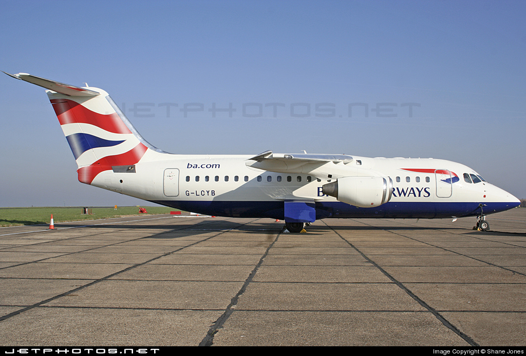 G-LCYB - British Aerospace Avro RJ85 - BA CityFlyer
