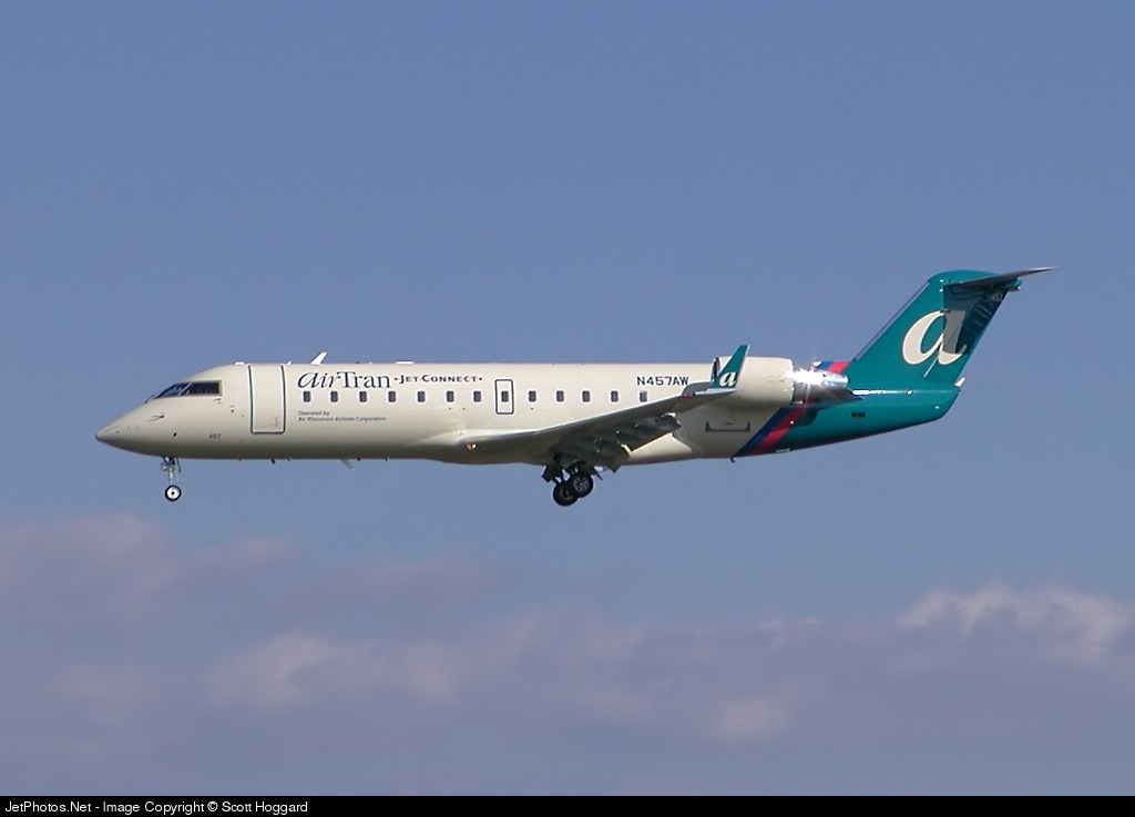 N457AW - Bombardier CRJ-200LR - airTran Jet Connect (Air Wisconsin)