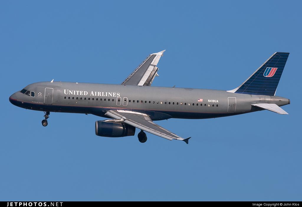 N418UA - Airbus A320-232 - United Airlines