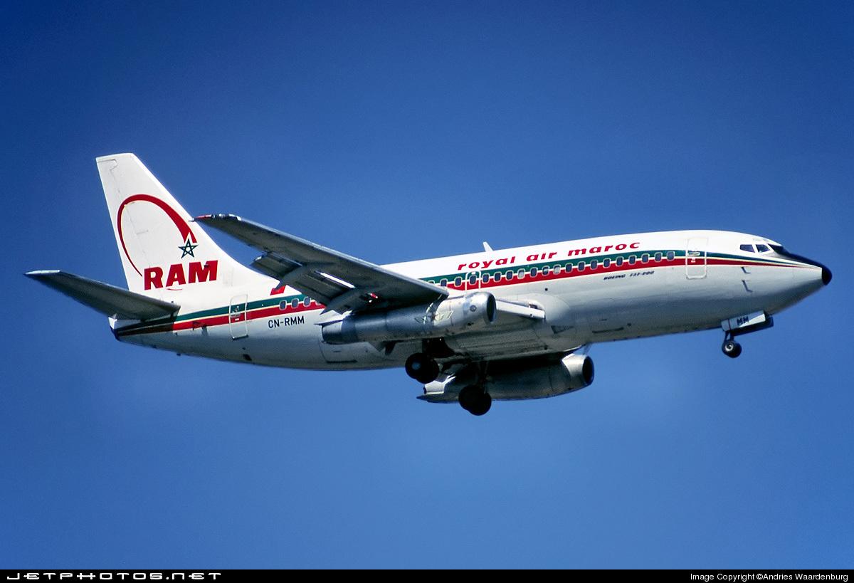 CN-RMM - Boeing 737-2B6C(Adv) - Royal Air Maroc (RAM)