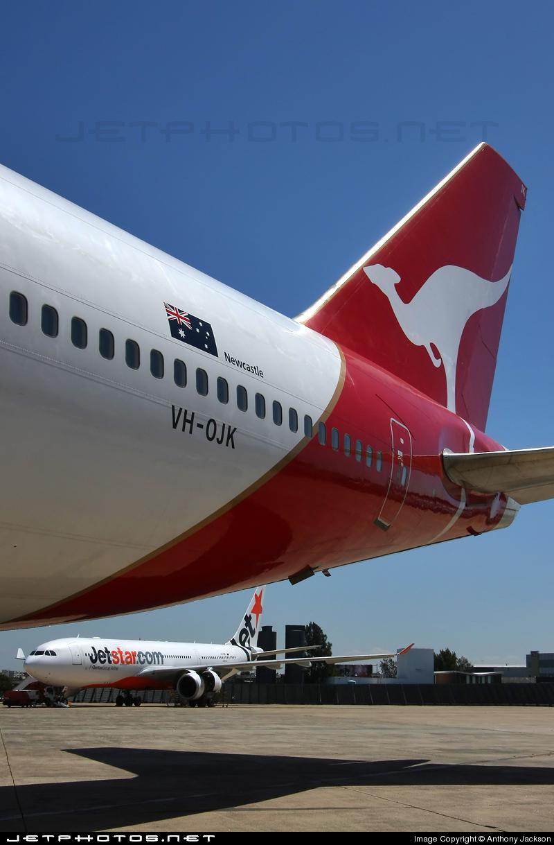 VH-OJK - Boeing 747-438 - Qantas