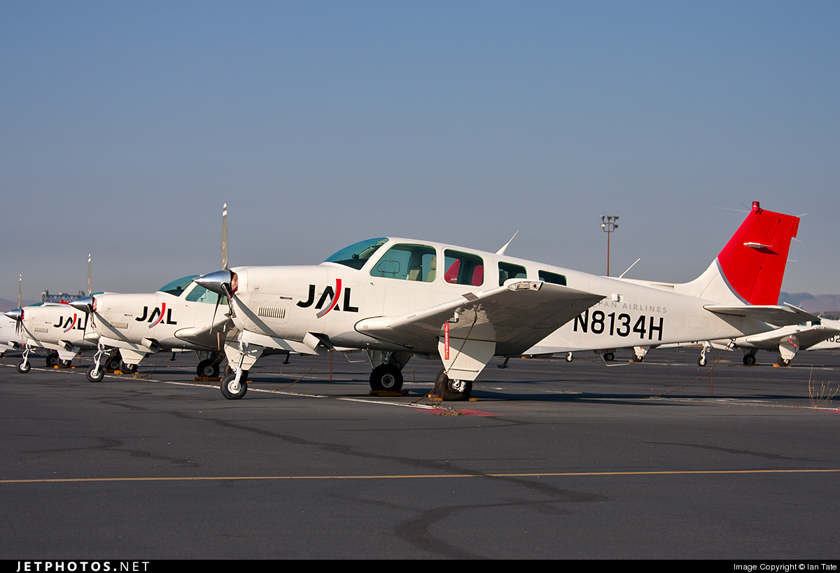 N8134H - Beechcraft A36 Bonanza - Japan Airlines (JAL)