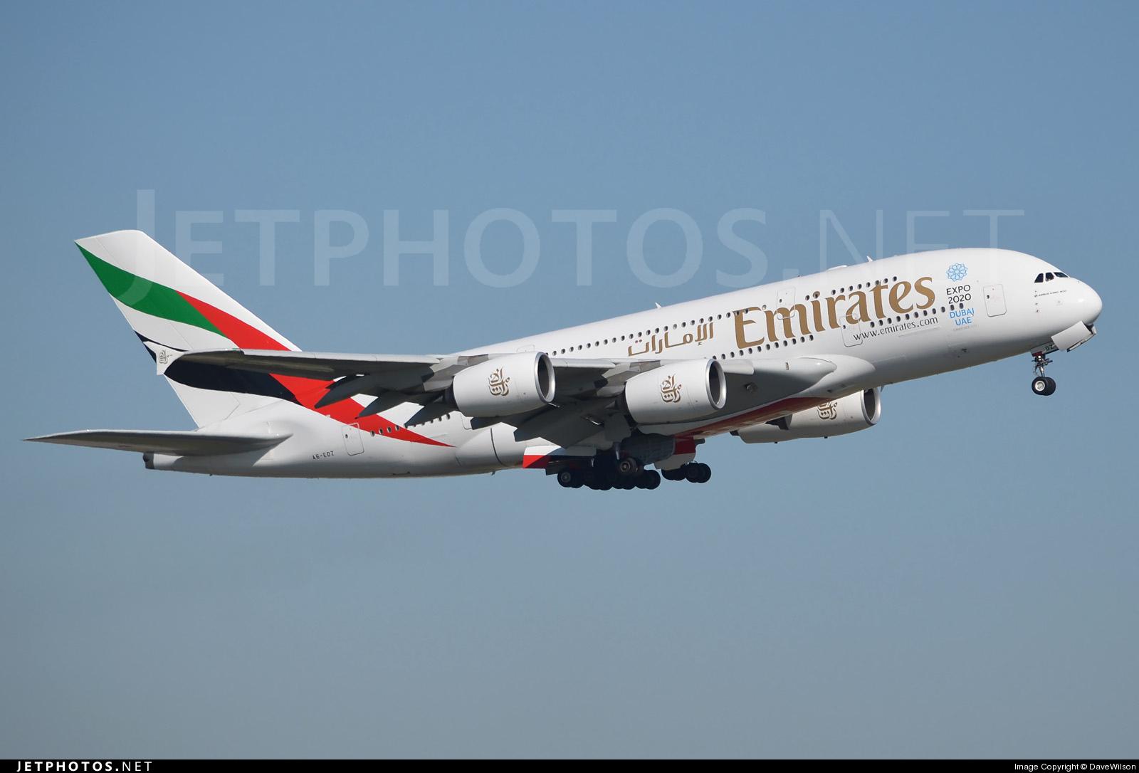 A6-EDZ - Airbus A380-861 - Emirates