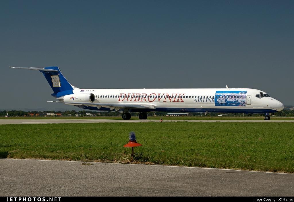 9A-CDC - McDonnell Douglas MD-82 - Dubrovnik Airline