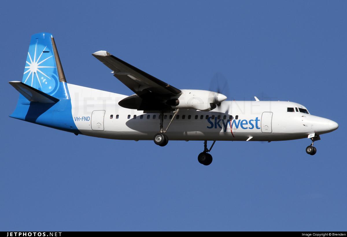 VH-FND - Fokker 50 - SkyWest Airlines