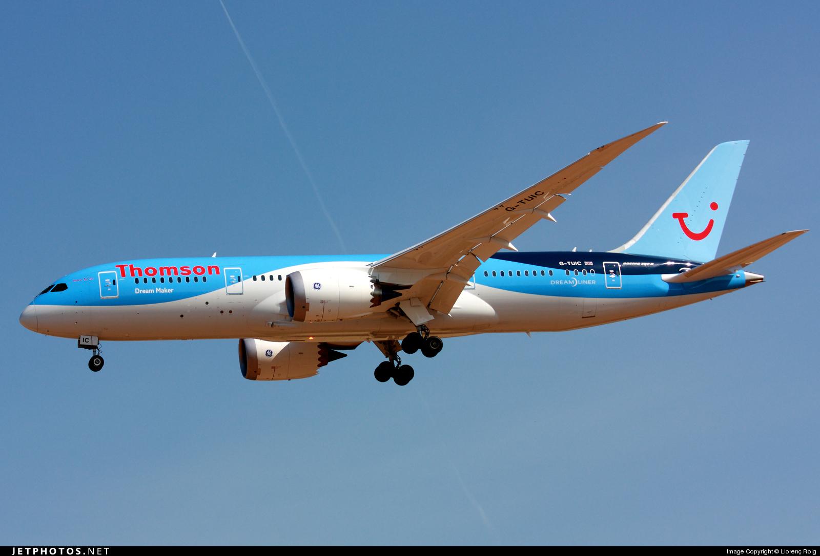 G-TUIC - Boeing 787-8 Dreamliner - Thomson Airways