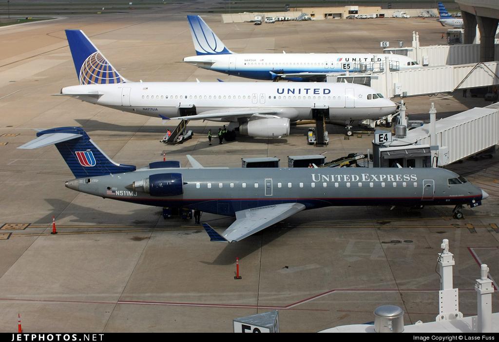 N511MJ - Bombardier CRJ-701 - United Express (Mesa Airlines)