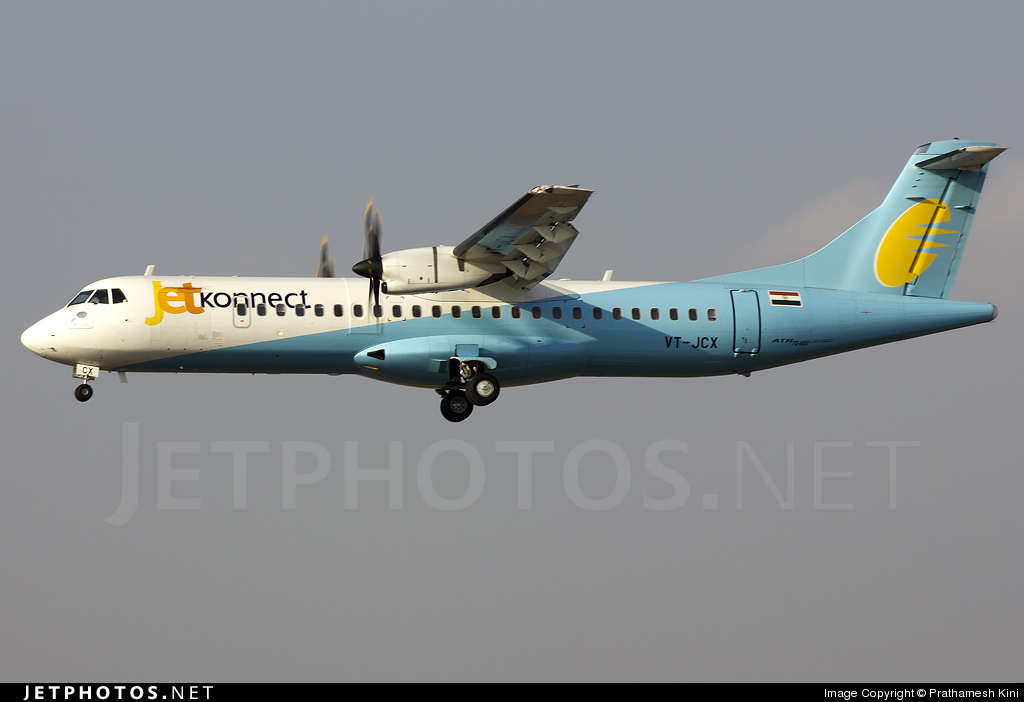 VT-JCX - ATR 72-212A(600) - Jet Konnect