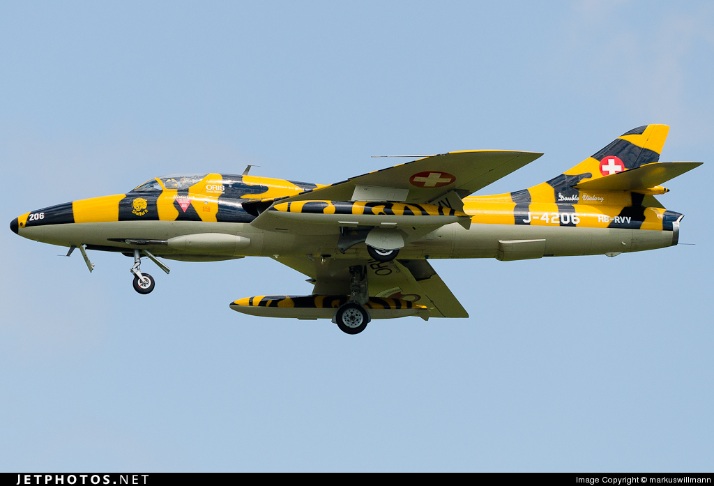 HB-RVV - Hawker Hunter T.68 - Hunter Flying Group