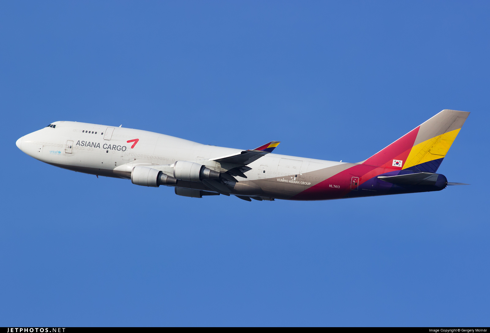 HL7413 | Boeing 747-48E(BDSF) | Asiana Cargo | Gergely ...