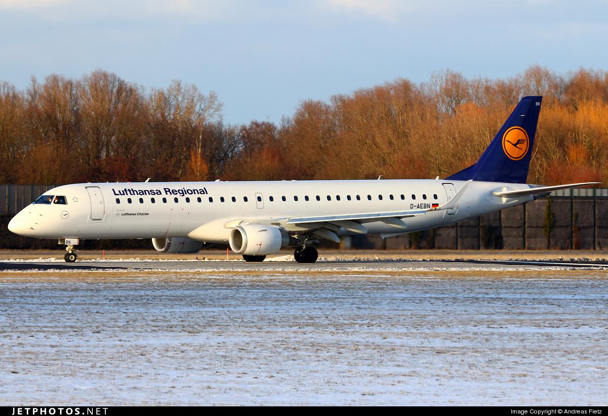 d-aebn | embraer 190-200lr | lufthansa regional (cityline) | andreas