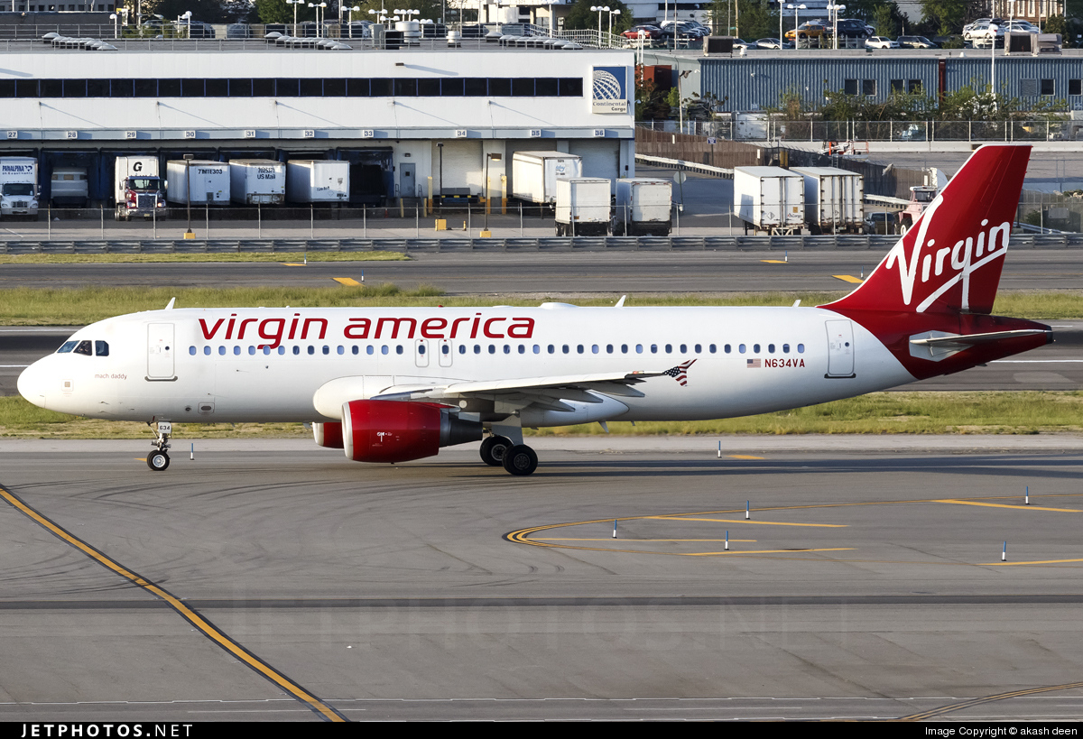 N634VA - Airbus A320-214 - Virgin America
