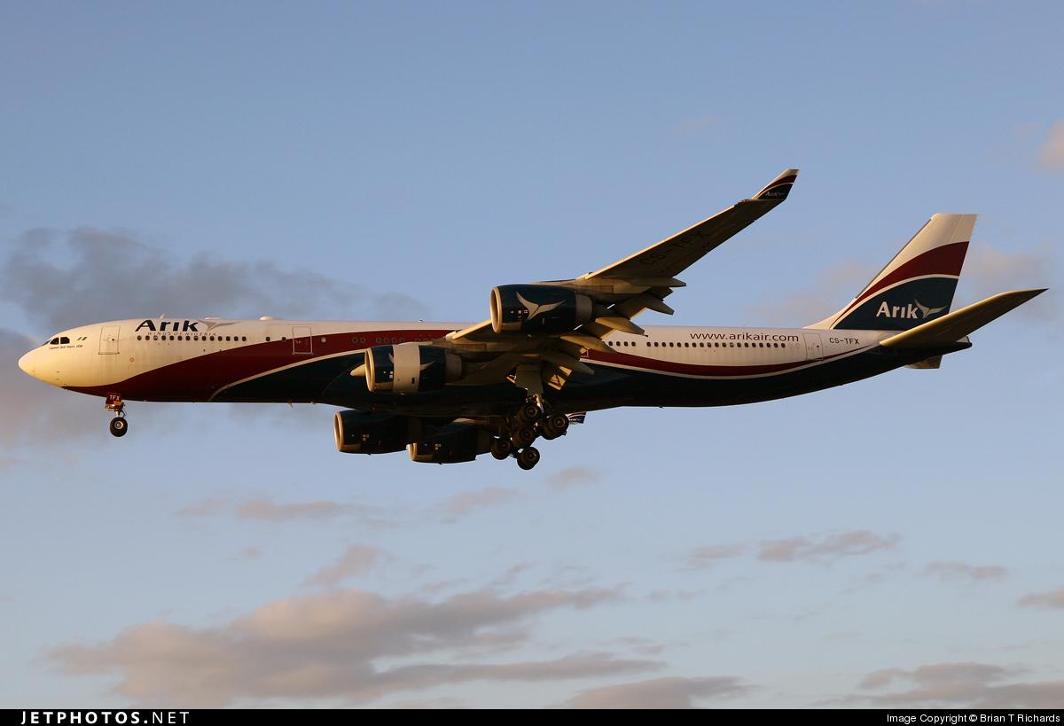 CS-TFX - Airbus A340-542 - Arik Air (HiFly)