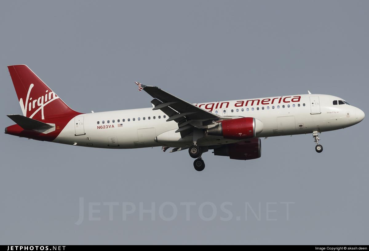 N623VA - Airbus A320-214 - Virgin America