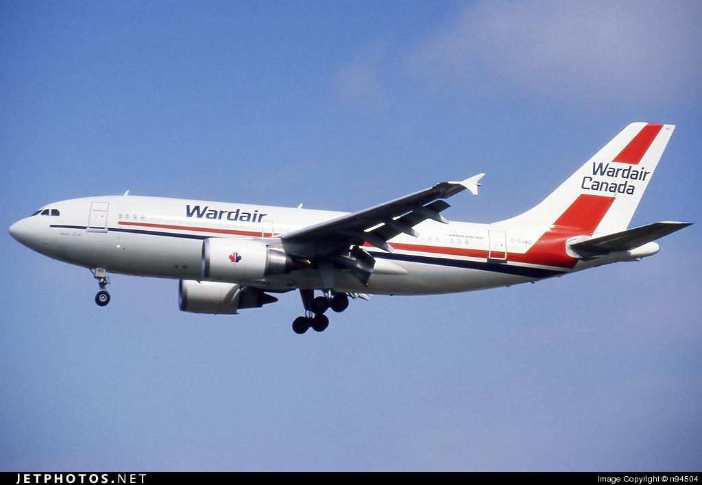 C-GJWD - Airbus A310-304 - Wardair Canada