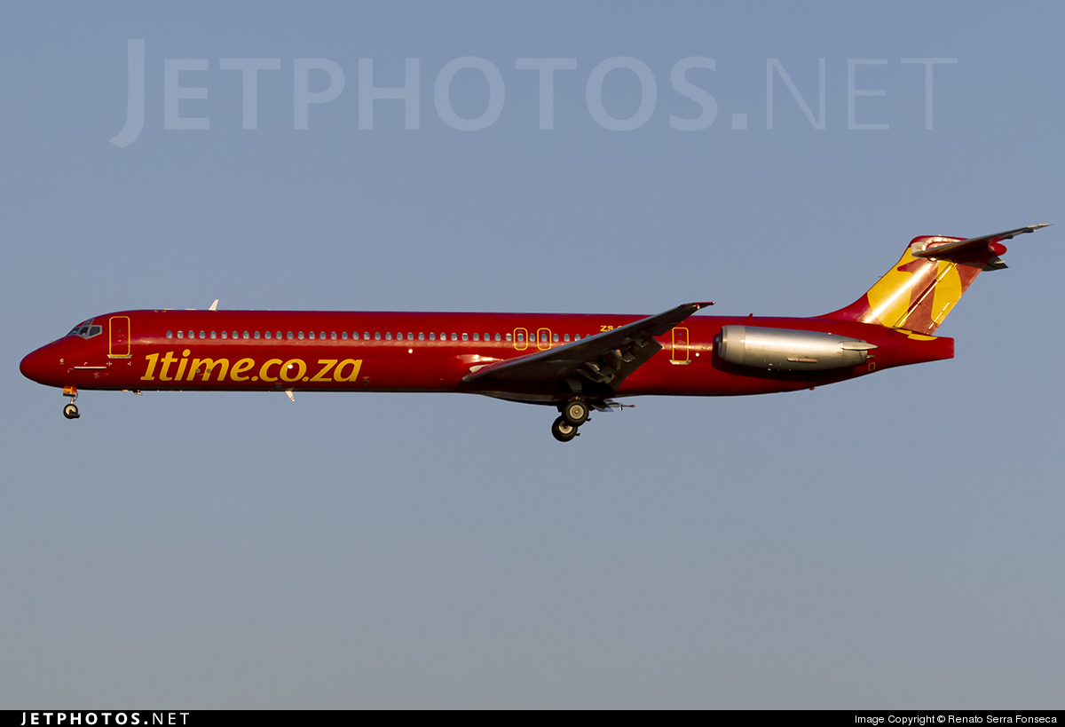 ZS-OBK - McDonnell Douglas MD-82 - 1Time Airline