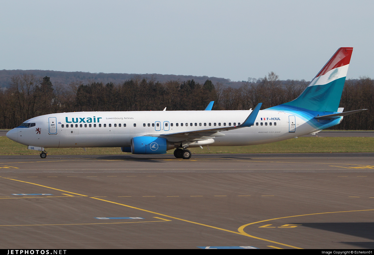 F-HJUL - Boeing 737-8Q8 - Luxair - Luxembourg Airlines