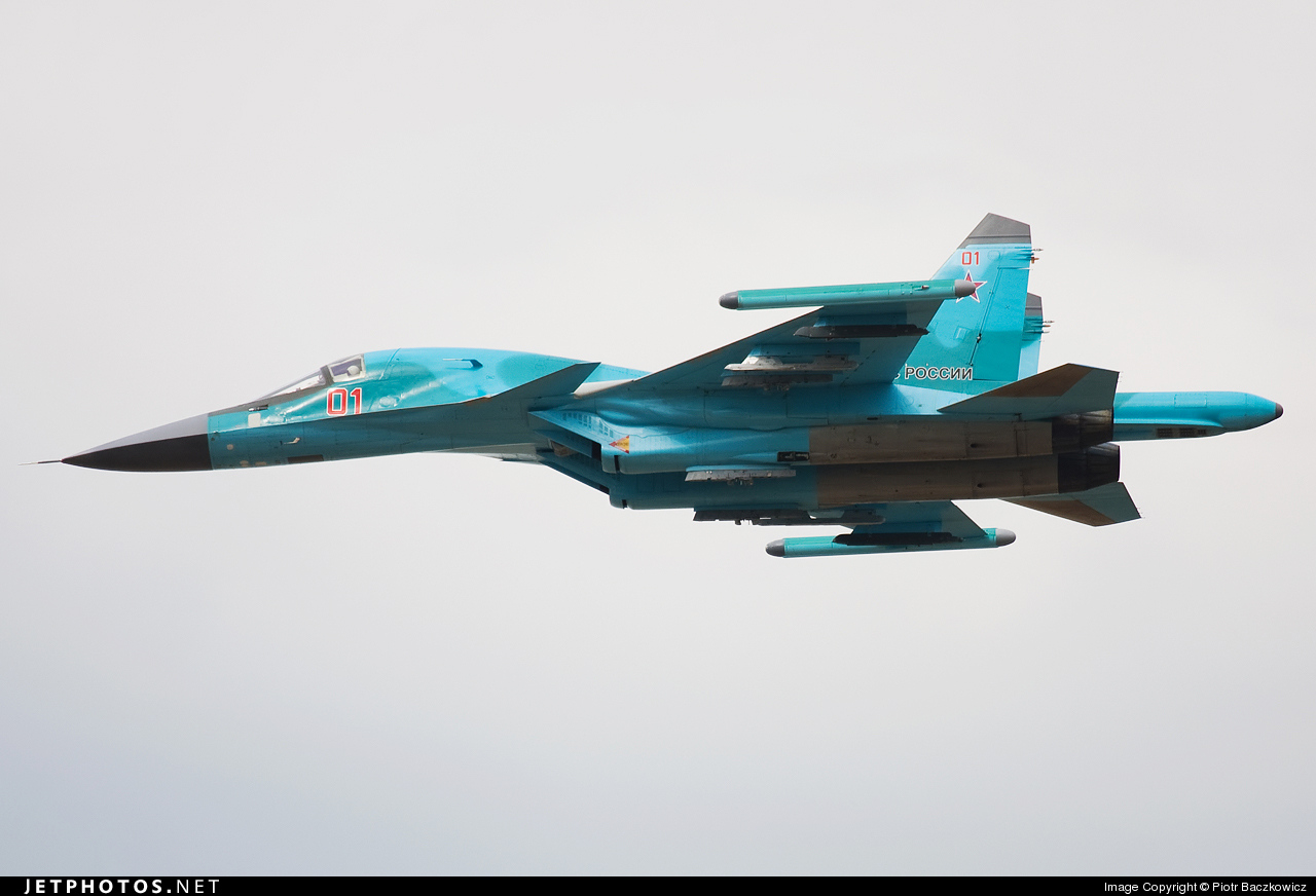 01 - Sukhoi Su-34 Fullback - Russia - Air Force