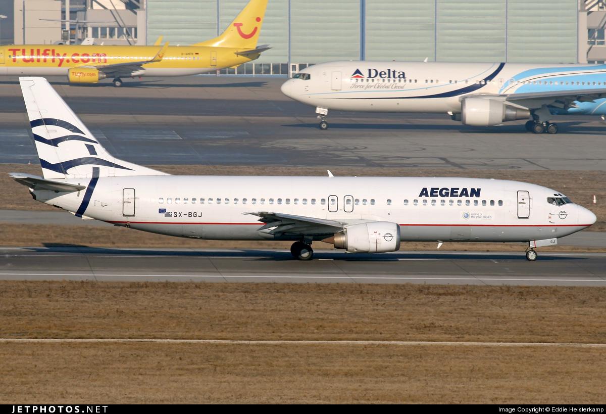 SX-BGJ - Boeing 737-4S3 - Aegean Airlines