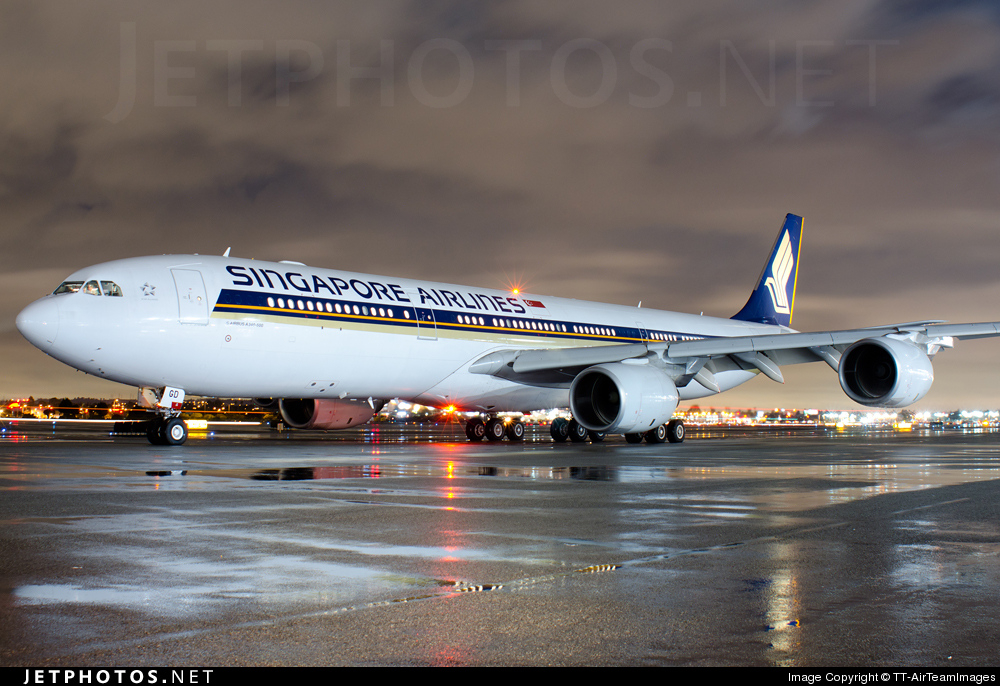 9V-SGD - Airbus A340-541 - Singapore Airlines