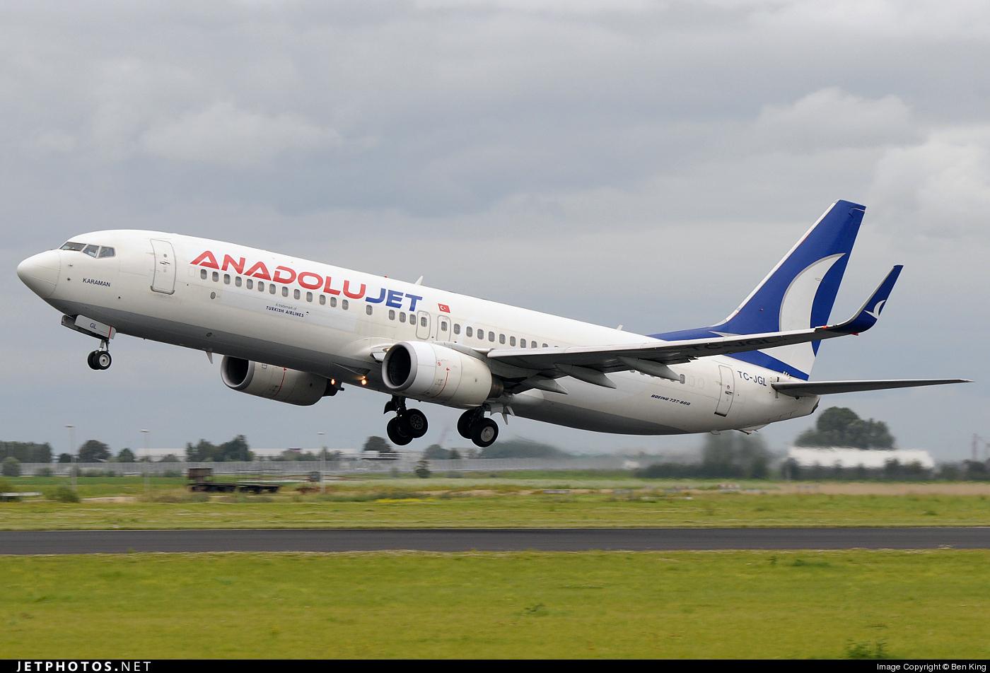 TC-JGL - Boeing 737-8F2 - AnadoluJet