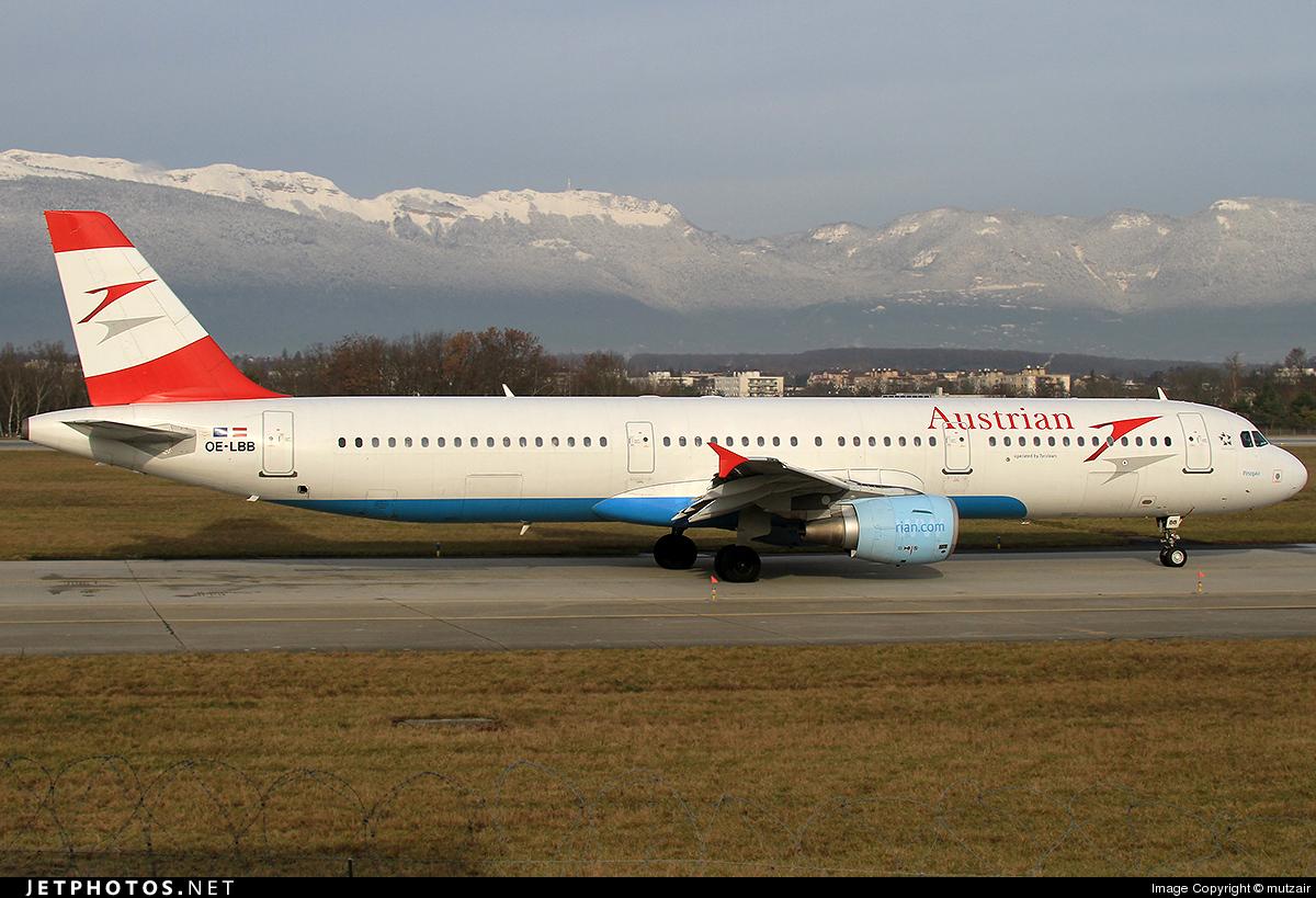OE-LBB - Airbus A321-111 - Austrian Airlines
