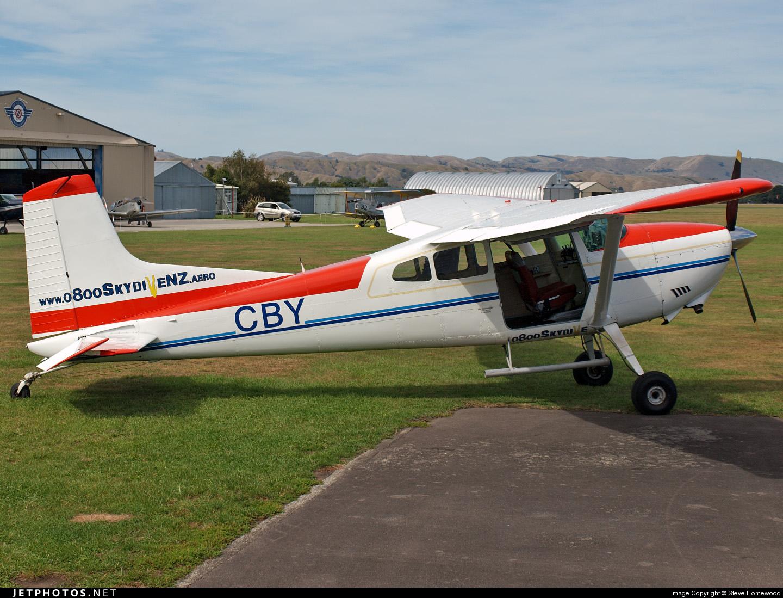 ZK-CBY - Cessna 185A Skywagon - Skydive New Zealand