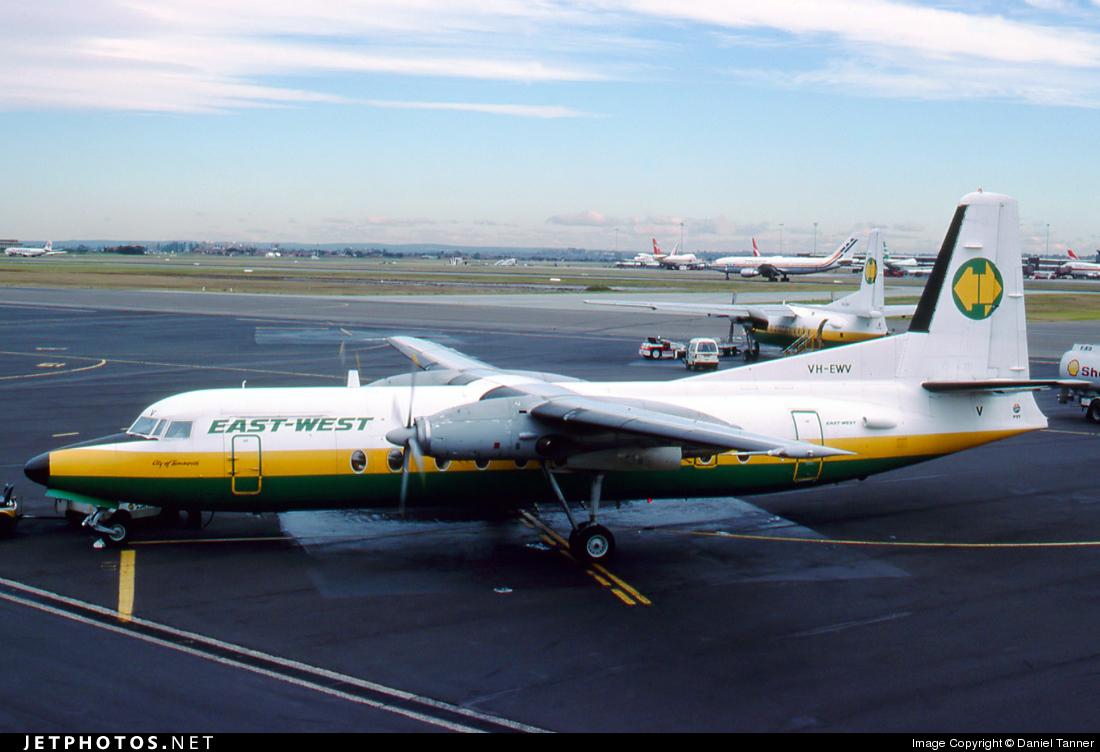 VH-EWV - Fokker F27-500 Friendship - East-West Airlines