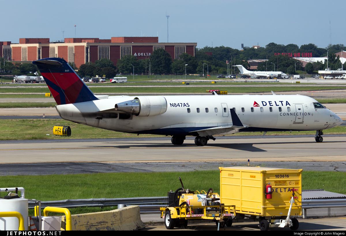 N847AS - Bombardier CRJ-200ER - Delta Connection (ExpressJet Airlines)