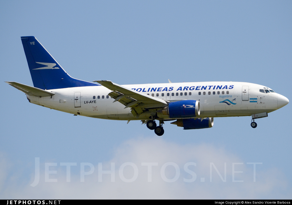 LV-AYE - Boeing 737-5H6 - Aerolíneas Argentinas
