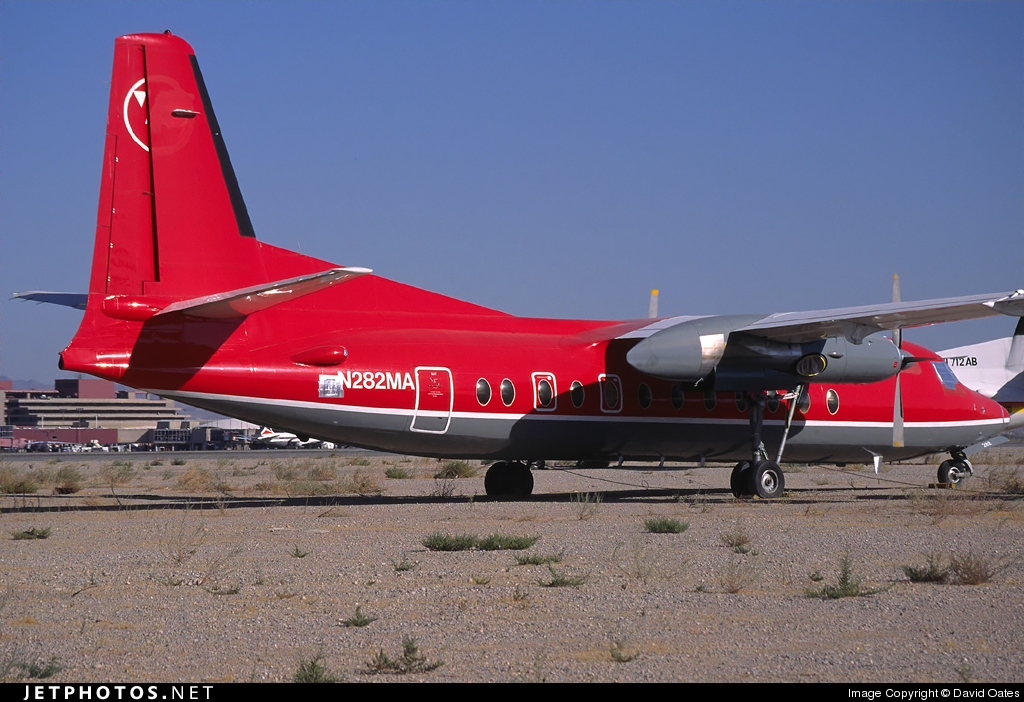 N282MA - Fokker F27-500 Friendship - Northwest Airlink (Mesaba Airlines)