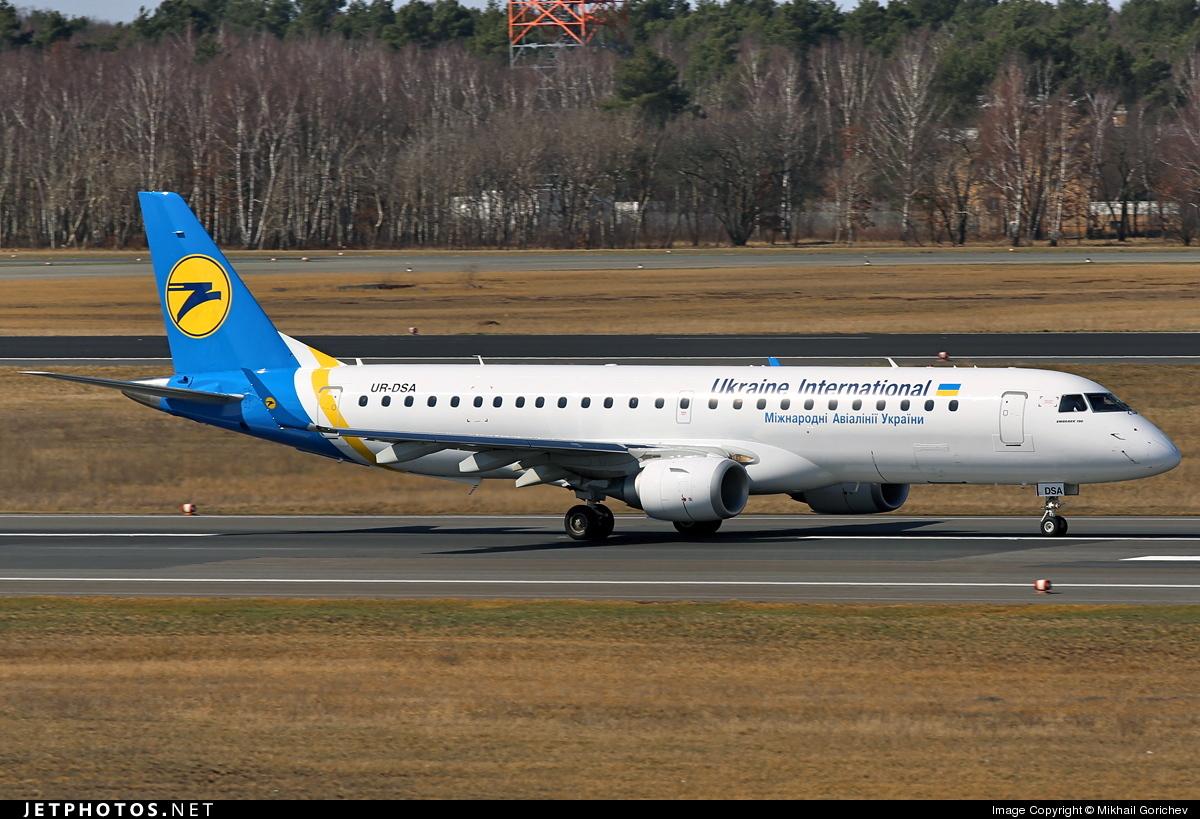 UR-DSA - Embraer 190-100STD - Ukraine International Airlines