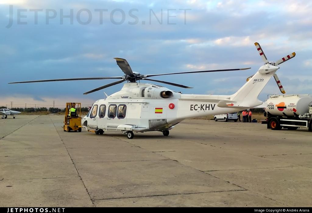 EC-KHV - Agusta-Westland AW-139 - Inaer