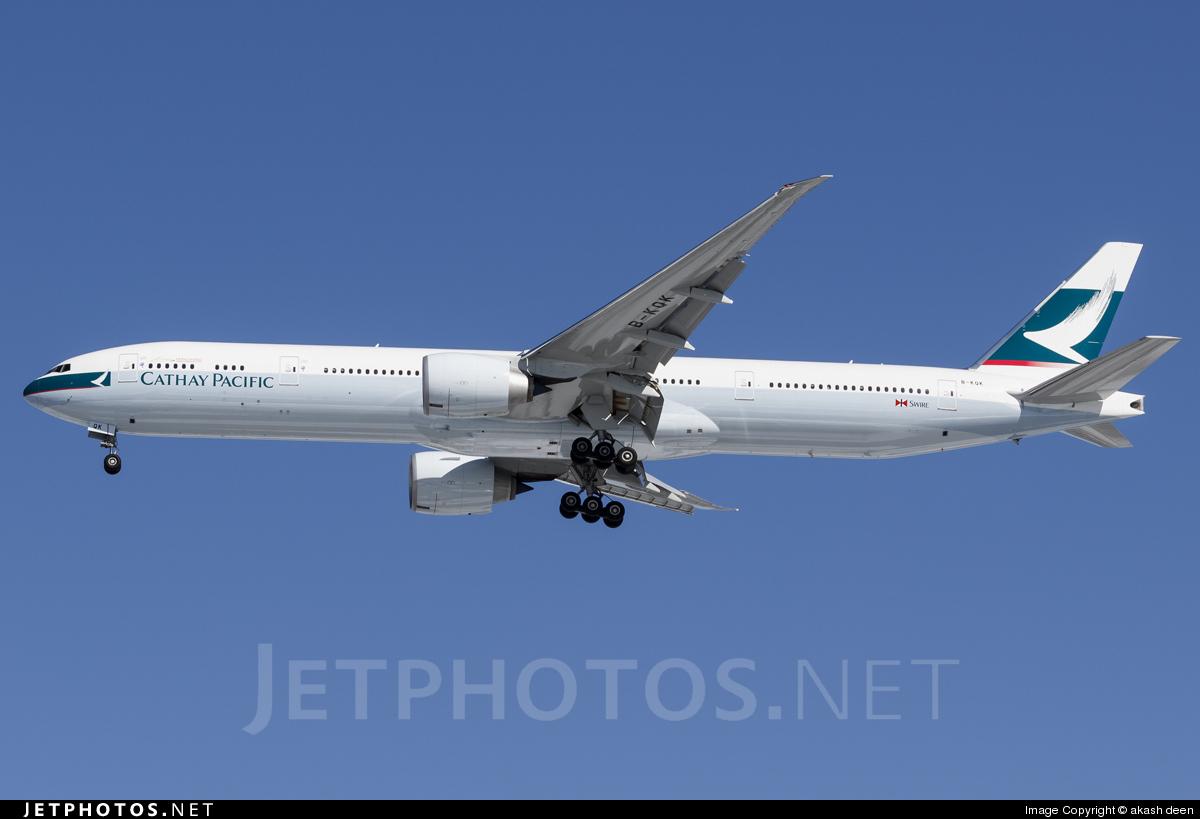 B-KQK - Boeing 777-367ER - Cathay Pacific Airways